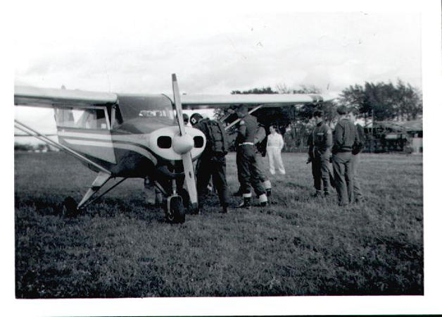 Loganair Piper Tripacer at Strathaven Airfield